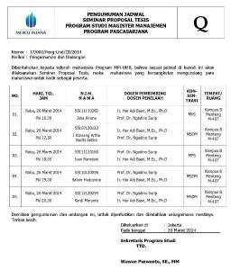 002 PENGUMUMAN DAN UNDANGAN 26 MARET 2014 (MSDM & MPS)