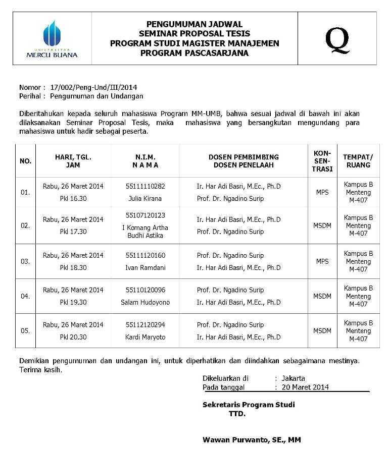 21   Maret   2014   Magister Manajemen UMB
